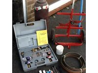 Complete gas welding and cutting set