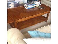 Walnut large coffee table