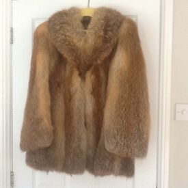 Ladies Red Fox Fur Jacket