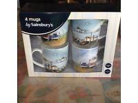 Sainsburys 4 mugs