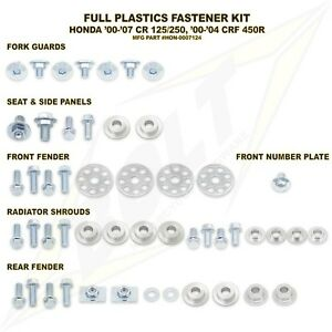 Plastics-Body-Fastener-Full-Complete-Bolt-Kit-Honda-CR125R-CR250R-CRF450R-00-07