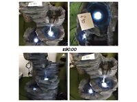 Trevell Rock Cascade Water Feature with LED lights