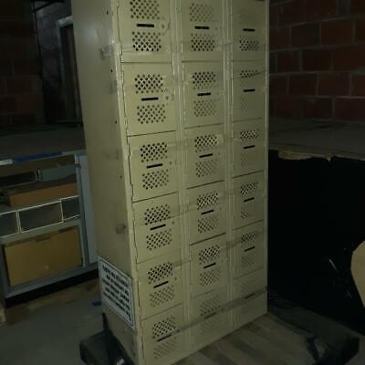 Lockers Metal Cube Doors 12 X 12 Lot 54 Used Store Backroom School Fixtures