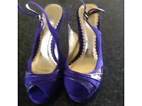 Oasis wedged heel sling back shoes size 5 in perfect con. never worn