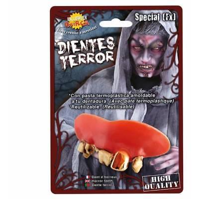 Special Fx Thermoplast Zähne Gold Hundezahn Piraten Zombie Halloween Kostüm
