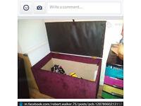 MASSIVE PURPLE OTTOMAN / BEDDING BOX / STORAGE UNIT / TOY BOX