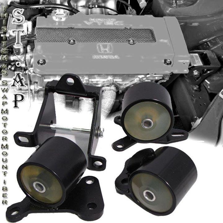 96-00 Civic B16,B17,B20 Sir Manuel Engine Swap Motor Mounts Conversion Set Clear