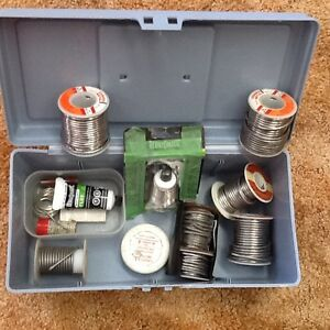 Spools of solder wire