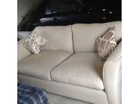 Ex-Showhome 3 Seater Sofa Immaculate Cream/Beige Fabric
