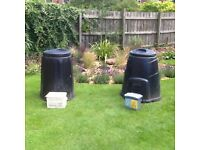 2 Composters and kitchen caddies