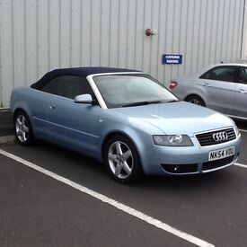 £3850 SWAP VALUE OR £3500 CASH SALE .SUPERB AUDI A4 CONVERTIBLE 1.8T SPORT