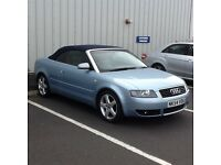 REDUCED . MAY SWAP OR P/EX CASH MY WAY!!. SUPERB AUDI A4 CONVERTIBLE 1.8T SPORT