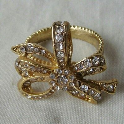 Napkin Rings Pewter / Gold With Crystals](Gold Napkin Rings)