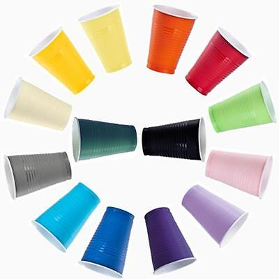 96 Disposable Plastic Colored Party Glasses Cups 12 oz Colorful- FREE SHIPPING!
