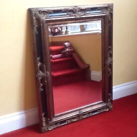 Beautiful large antique style wall mirror.