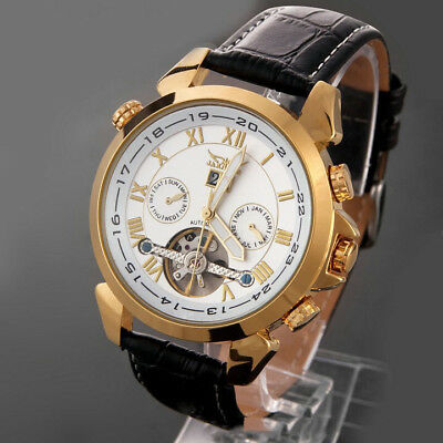 New Mens Fashion Automatic Mechanical Analog Date Display Waterproof Wrist Watch Analog Mechanical Casual Watch
