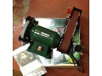 Bench grinder with belt sander new