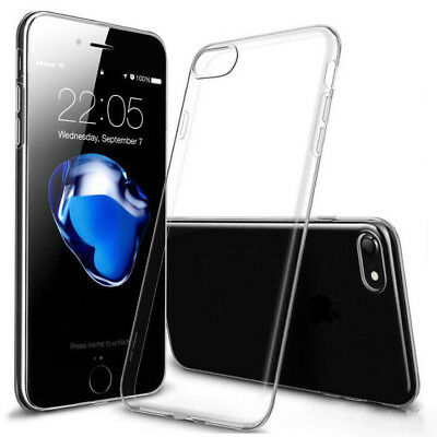HANDY HÜLLE Für iPhone 7 Tasche Silikon Case Schutz Cover Transparent Klar Clear Transparente Clear Case