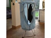 Portable heated clothes dryer