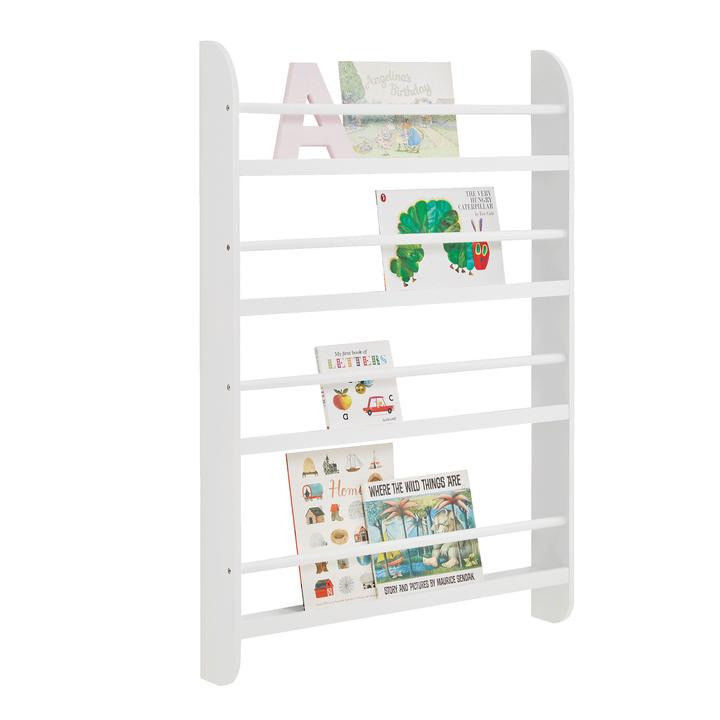 Greenaway Bookcase, White, Children's Wall Mounted