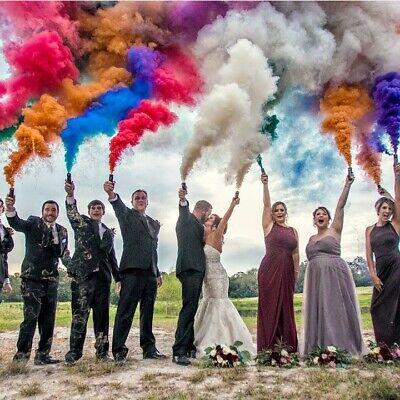 6 Colorful Effect Smoke Bombs Photography Wedding Photo Maternity US SELLER Wick