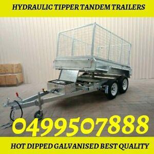 8×5 Best quality hydraulic tipper galvanised trailer