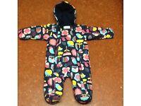 M&S 9-12 month baby girl snowsuit