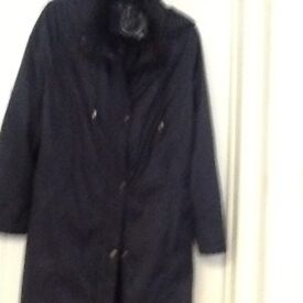 Navy Full length Klas Raincoat