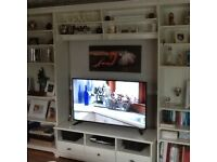 White shelving unit from ikea