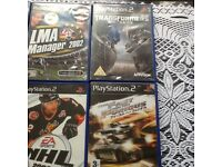 PlayStation 2 slim with controllers 10 games and accessories