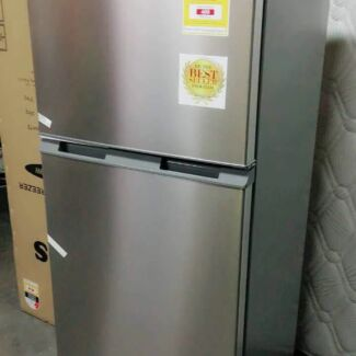 Brand New Best Seller HEQS 240L Silver Stainless Steel Fridge