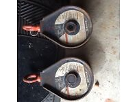 2 x 2 ton pulleys