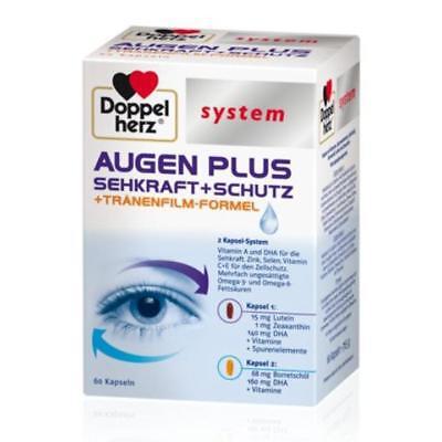 DOPPELHERZ system Augen plus Sehkraft und Schutz  Kapseln 60 Stück PZN 05517713 - Zeaxanthin Auge