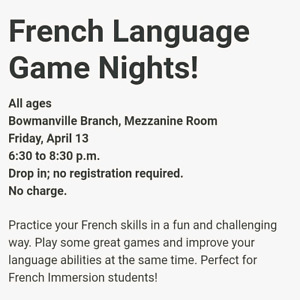 Community Hours Available for French Immersion Students.