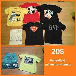Vêtements garçon 4T chemise chandail pantalon manteau West Island Greater Montréal image 3