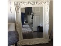 Large French ornate mirror