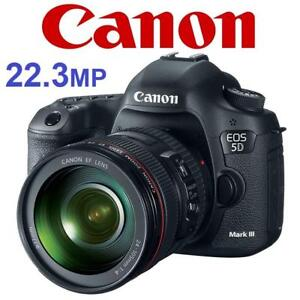 NEW CANON 5D MARK III CAMERA KIT 5260B009 191891368 W/ 24-105mm IS USM LENS 22.3MP EOS DSLR DIGITAL PHOTOGRAPHY
