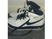 nike air force white and blue size 5