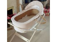 Moses basket for sale great condition.