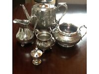 Silver tea service for sale. Excellent condition.