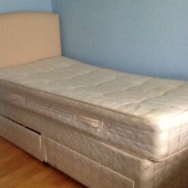 Single divan bed for sale with drawers in very good condition. Rarely used