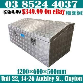 2.5mm Checker Plate Aluminium Top Opening Toolbox 1200x600x500