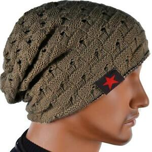 homme chapeau tricot bonnet crochet hiver cadeau hat cap beanie bonnet homme ebay. Black Bedroom Furniture Sets. Home Design Ideas