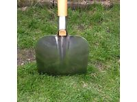 Long handled shovel, stainless steel,