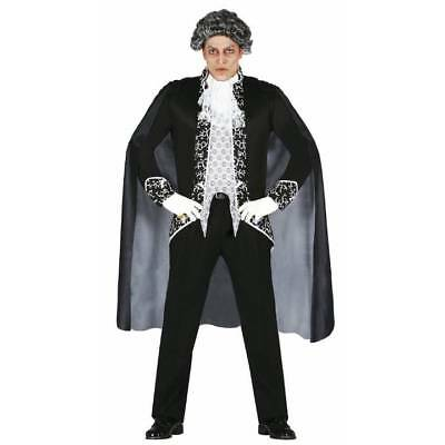 Royal Elegance Halloween Costume (Elegant Royal Vampire Lord Dracula Mens Halloween Fancy Dress)