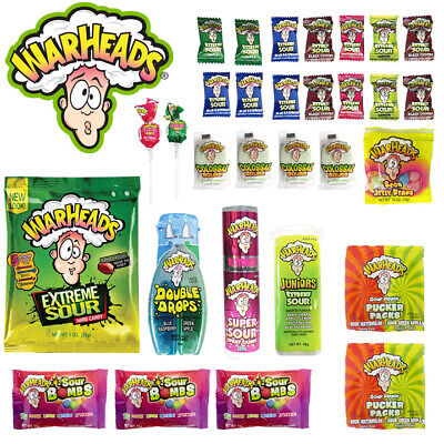 WARHEADS 32pc Jumbo Kids Showbag Candy Confectionery Show Bag Official Licensed
