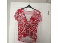 Two ladies spotted tops size 16 by mimosa