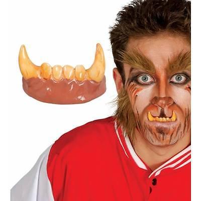 Werewolf Teeth Horror Halloween Adult Wolf Man Fancy Dress - Halloween Wolf Teeth