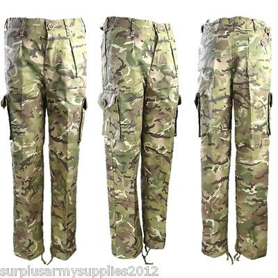 BOYS CAMOUFLAGE ARMY TROUSERS AGE 3-13 CADET KIDS - Kinder Army Outfits