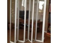 Aqualux shower screen to fit side of bath.140cmx140cm.Excellent condition,barely used.